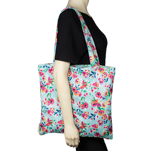 Smart Bottoms Tote Bag | Aqua Floral