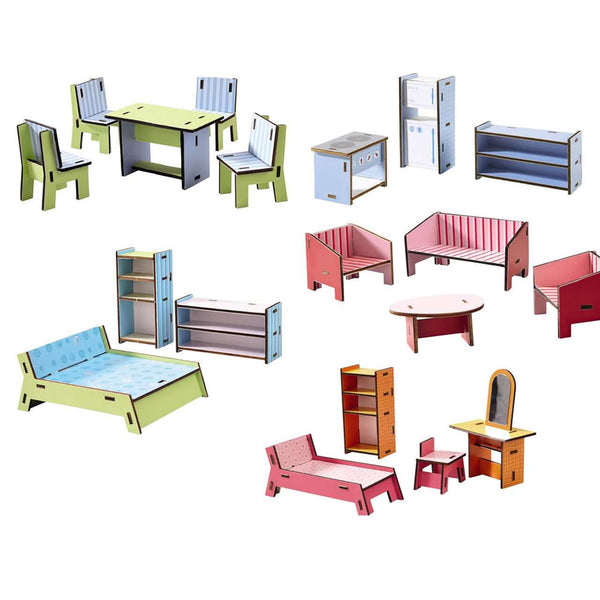 Haba ~ Little Friends Dollhouse Furniture Villa Sunshine