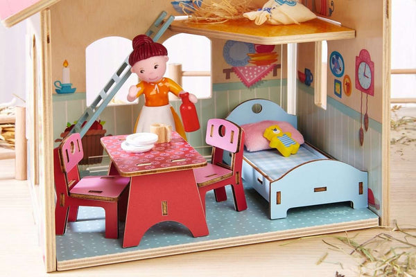 Haba Little Friends Dollhouse Furniture ~ Homestead