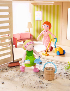 Haba ~ Dollhouse Furniture Washday - Spring Cleaning - Vacuum and Broom