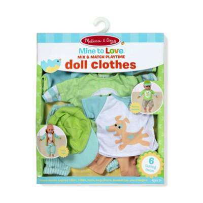 Melissa & Doug | Mine to Love - Mix & Match Playtime Doll Clothes