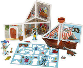 Melissa & Doug | Magnetivity Building Play Set – Pirate Cove
