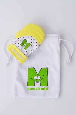 Munch Mitt Mini | Preemie Baby Teething Mitten ~ Yellow