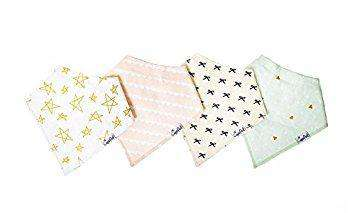 Copper Pearl | Modern Bandana Bibs 4 Pack ~ Paris