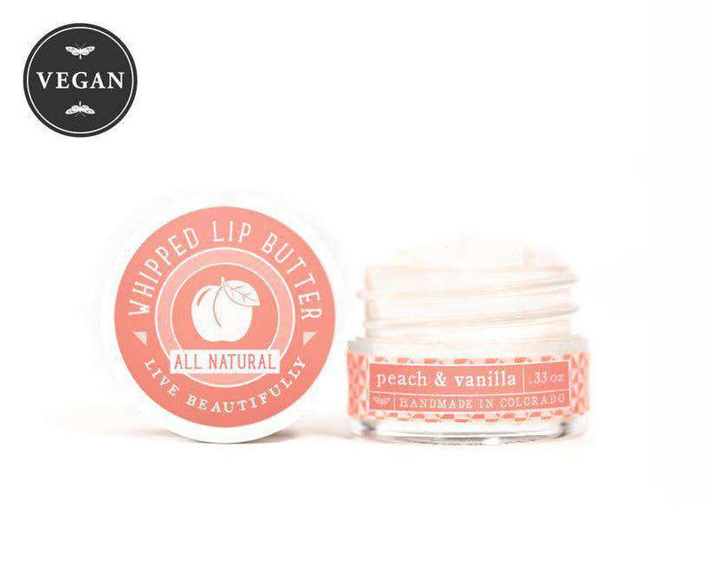 Live Beautifully - Whipped Lip Butter - Peach & Vanilla