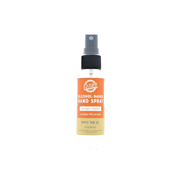 Rinse Bath Body Inc - Alcohol-Based Hand Spray - Orange & Lemon
