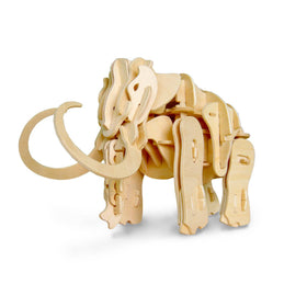 Magnote - DINOROID Mammoth Walking & Roaring Wooden 3D Puzzle Kit