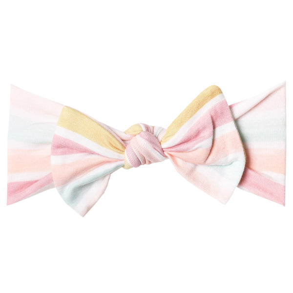 Copper Pearl Knit Headband Bow ~ Belle
