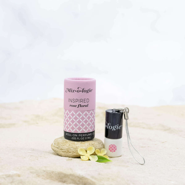 Mixologie - Inspired (rose floral) Mini Roll-On Perfume Keychain (1 mL)
