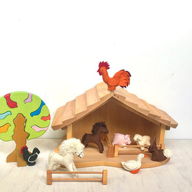 Gluckskafer Toys ~ Nativity Stable/Barn