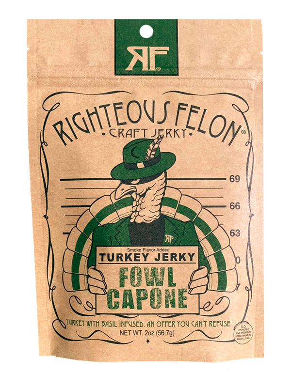 Righteous Felon Craft Jerky  -  Fowl Capone Turkey Jerky