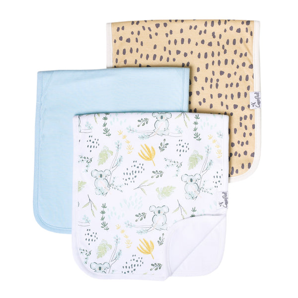 Copper Pearl | Premium Burp Cloth 3 Pack Set ~ Aussie
