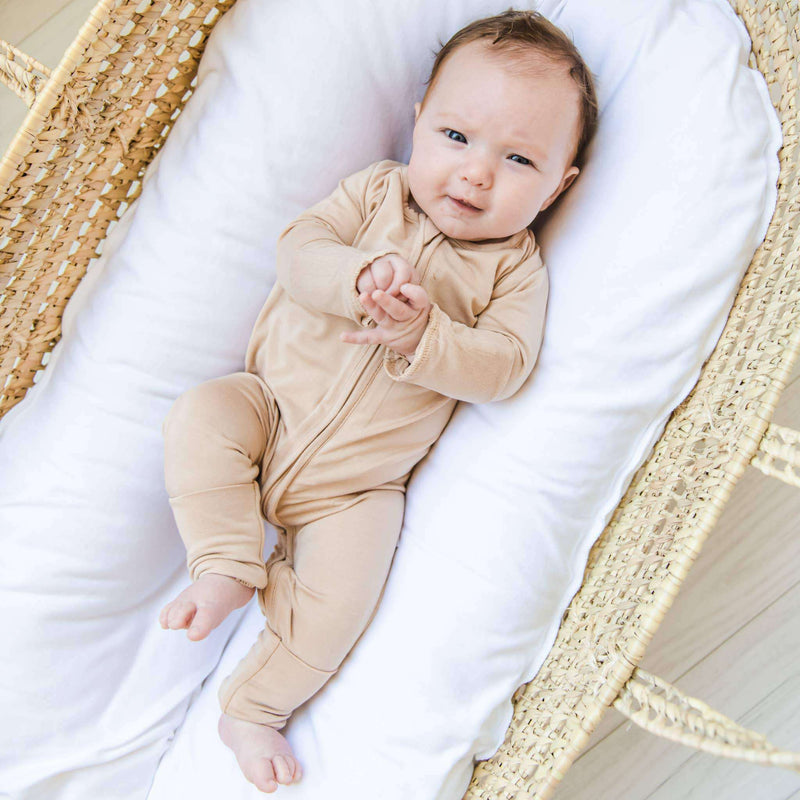 Little Sleepies - Camel - Convertible Romper/Sleeper