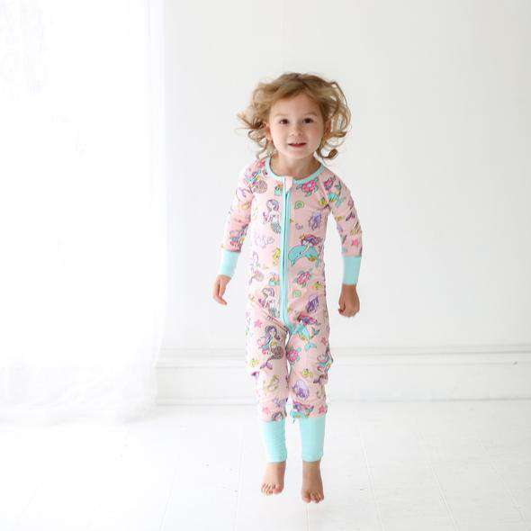 Little Sleepies - Mermaid - Convertible Romper/Sleeper