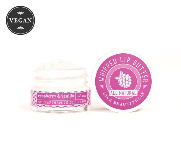 Live Beautifully - Whipped Lip Butter - Raspberry & Vanilla