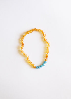 CanyonLeaf Raw Honey + Aquamarine | Necklace