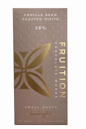 Fruition Chocolate - Vanilla Bean Toasted White Chocolate Bar