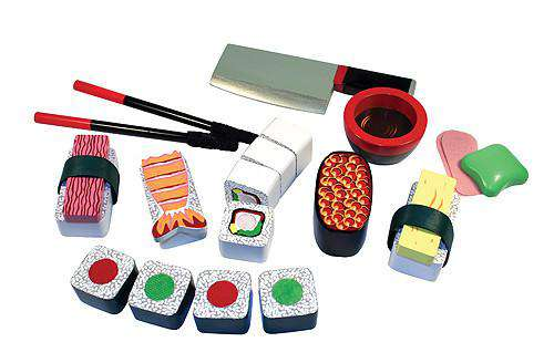 Melissa & Doug | Wooden Play Food | Sushi Slicing Set