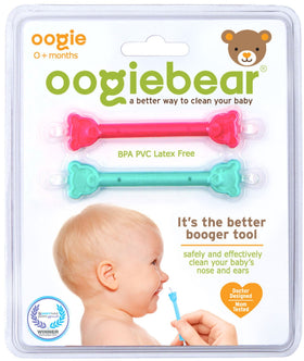 Oogiebear Nasal & Ear Cleaner - 2 Pack Raspberry & Seafoam
