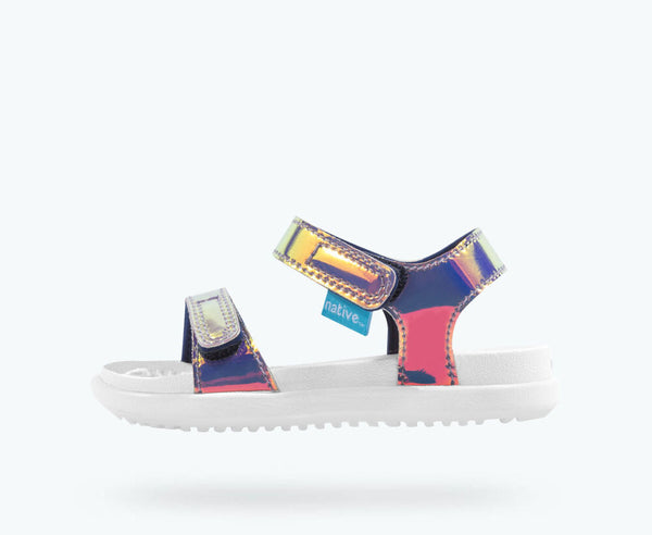 Native Shoes | Charley  Pink Hologram/ Shell White
