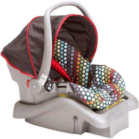 Cosco Light 'N Comfy DX | Infant Car Seat Rainbow Dots