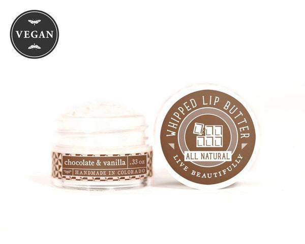 Live Beautifully - Whipped Lip Butter - Chocolate & Vanilla