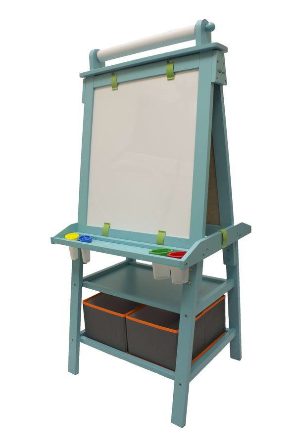 Deluxe Learn and Play Art Center Easel - Turquoise