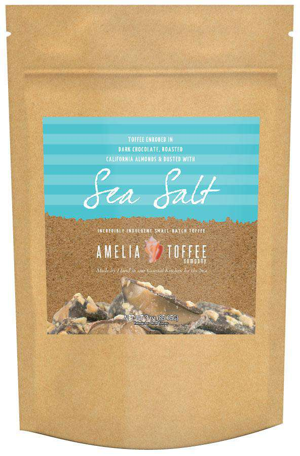Amelia Toffee - Sea Salt Toffee - 3oz Craft Bag *Best By 9/6/2019* Final Sale