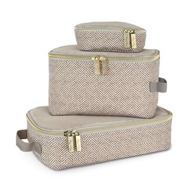 Itzy Ritzy | Pack Like A Boss Packing Cubes ~ Taupe