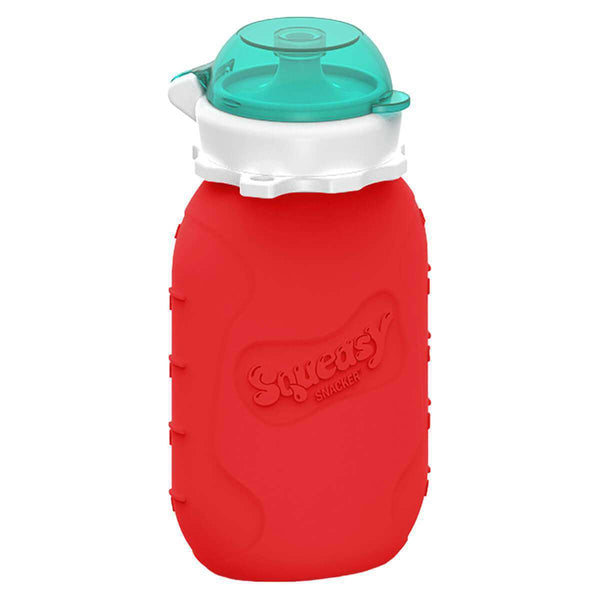 Squeasy Gear Silicone Food Pouch | Red Snacker