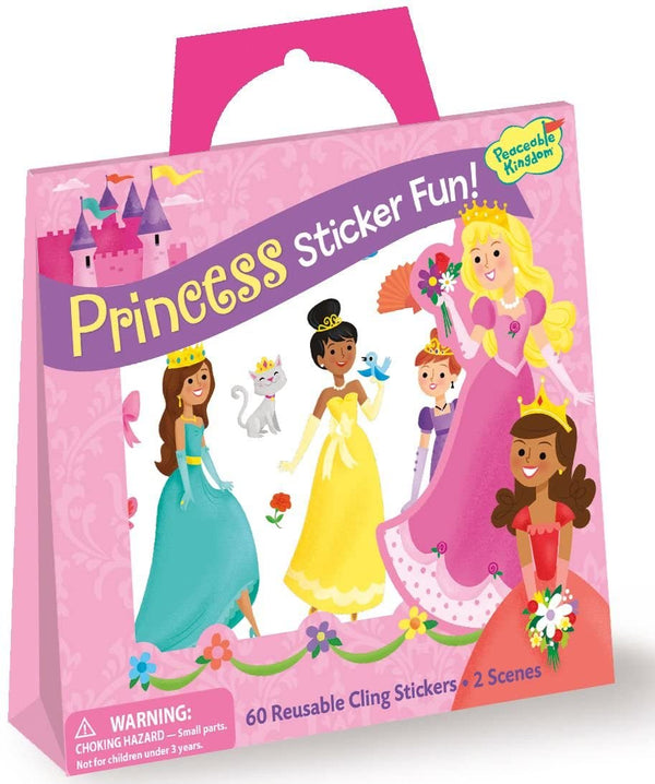 Peaceable Kingdom | Reusable Sticker Tote ~ Princess