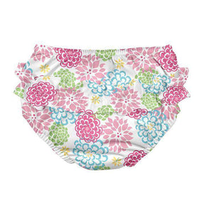 I Play | Ruffle Snap Reusable Swim Diaper  ~ White Zinnia