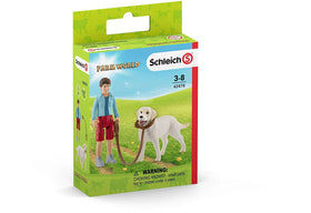 Schleich | Farm World ~ WALKING WITH LABRADOR RETRIEVER