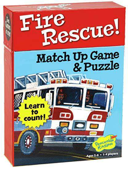 Peaceable Kingdom ~ Fire Rescue! Puzzle and Match Up Game