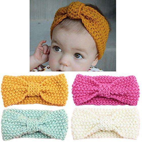 Knotted Knit Baby Headband Moms Milk Boutique