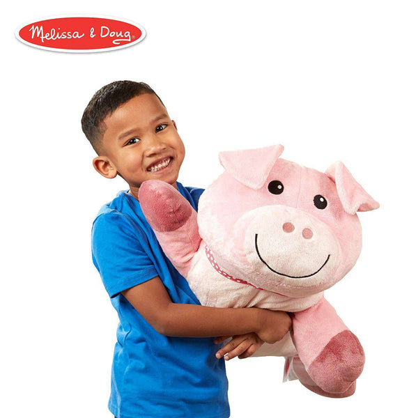 Melissa & Doug | Cuddle Pig Jumbo Plush Stuffed Animal