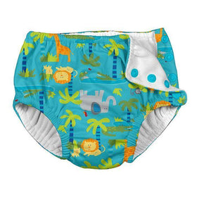 I Play | Snap Reusable Swim Diaper ~ Aqua Jungle