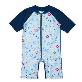 I Play | One Piece Zip Sunsuit ~ Blue Lifesaver