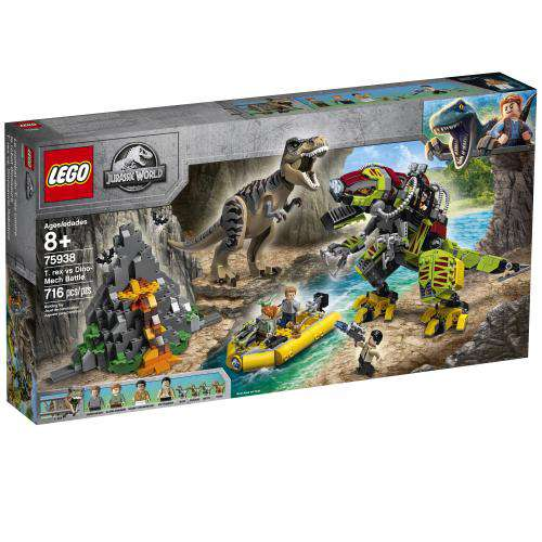 Lego | Jurassic World ~ T. rex vs Dino-Mech Battle