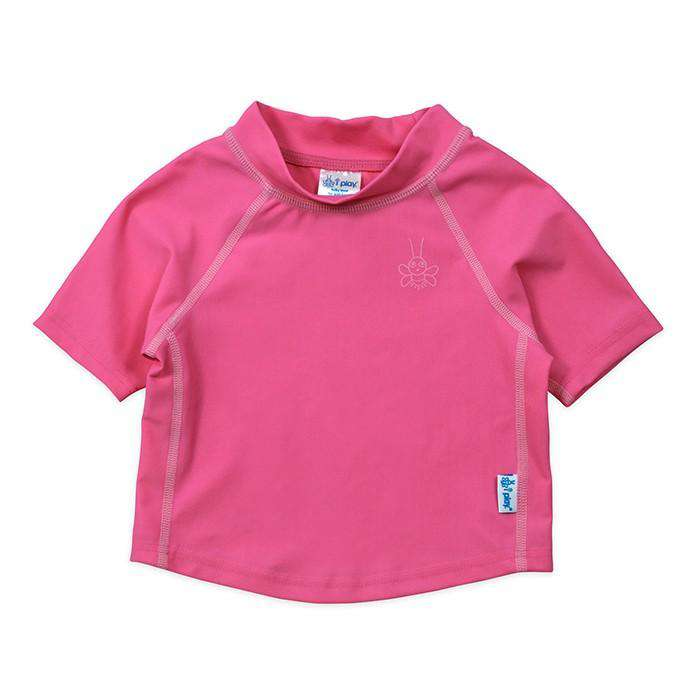 I Play | Short Sleeve Rashguard Shirt ~ Hot Pink