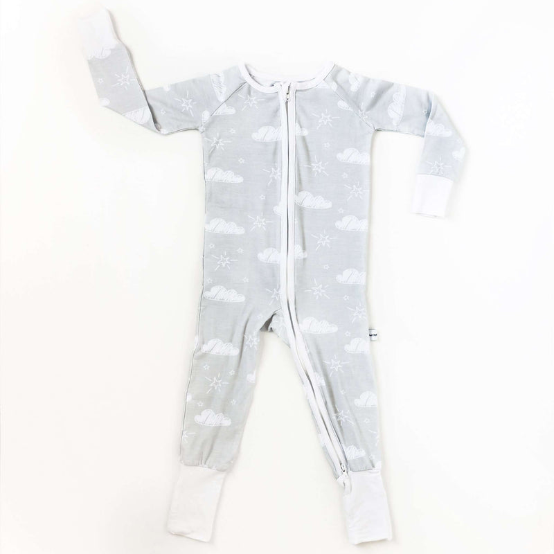 Little Sleepies - Clouds - Convertible Romper/Sleeper