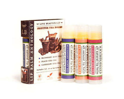Live Beautifully - Anthology Lip Balm Book - Fruited Teas