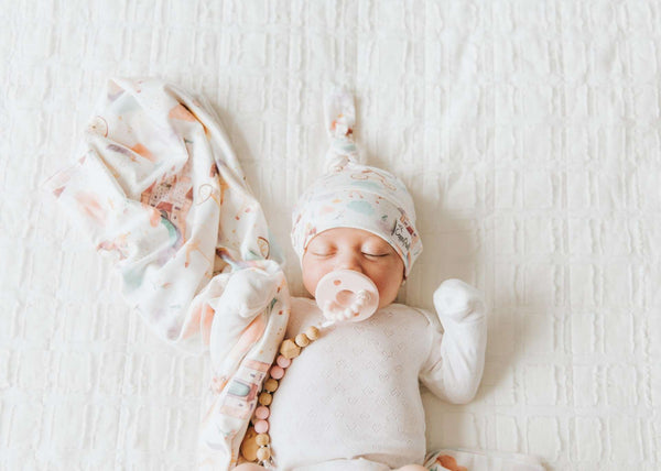 Copper Pearl |  Knit Swaddle Blanket ~ Enchanted