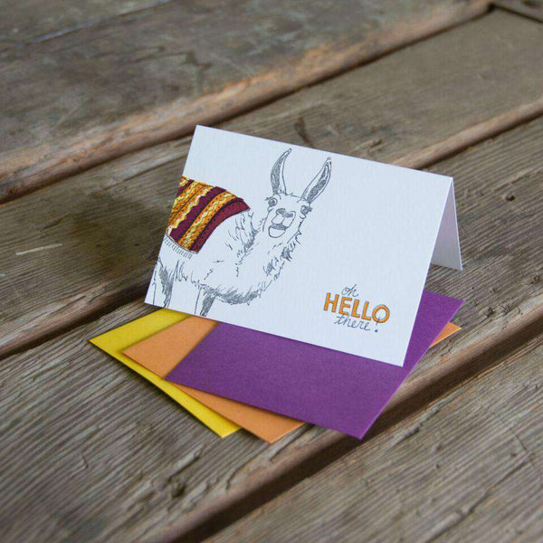 Ladybug Press - Orange Oh Hello Llama