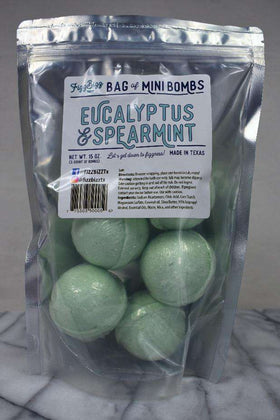 Fizz Bizz LLC - Mini Bath Bombs - Eucalyptus and Spearmint