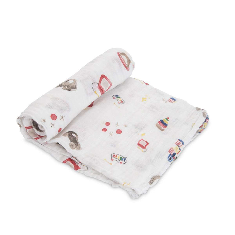 Little Unicorn + The Boss Baby | Cotton Muslin Swaddle Single - Toy Box