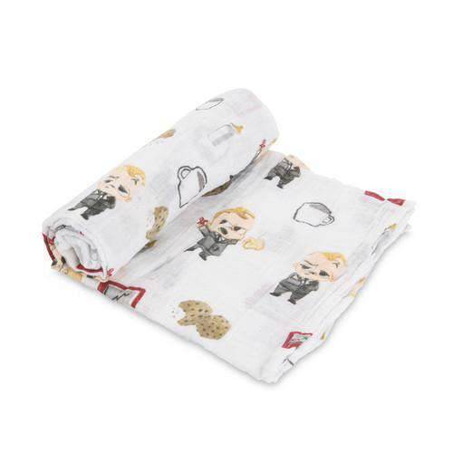 Little Unicorn + The Boss Baby | Cotton Muslin Swaddle Single - Cookies are for Closers