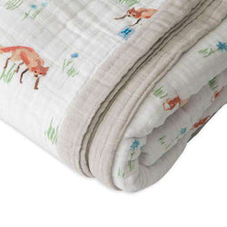 Little Unicorn | Big Kid Cotton Muslin Quilt ~ Fox