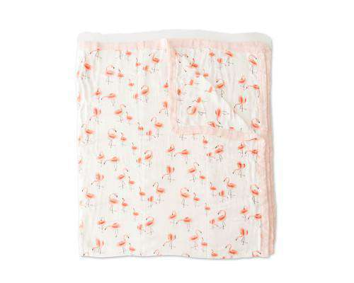 Little Unicorn | Big Kid Deluxe Muslin Quilt ~ Pink Ladies