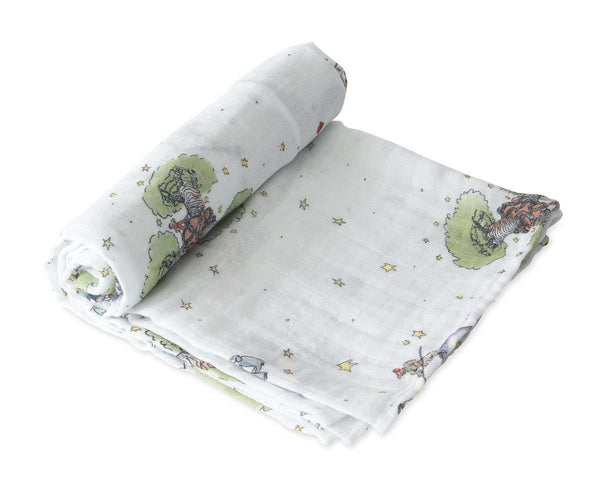 Little Unicorn | Cotton Muslin Swaddle Single - Little Prince